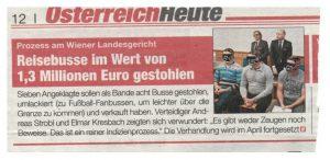Reisebusbande © Tageszeitung Heute Freisprüche und Schuldsprüche Diebstahl und Hehlerei Anwalt Strafverteidiger advokat